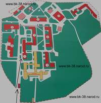 Нажмите для загрузки увеличенного размера Плана-Схемы расположения корпусов Калужской областной больницы в отдельном окне, где вы сможете прочитать или сохранить файл для печати