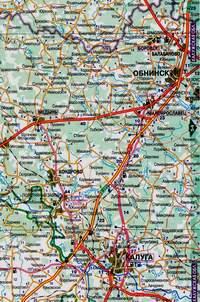 Нажмите для загрузки увеличенного размера Карты дорог от Боровска до Калуги