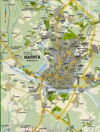 Нажмите для загрузки увеличенного размера карты дорог г. Калуги